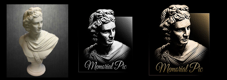 Logo for memorial picture etching