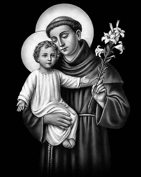 St Anthony of Padua for laser etching