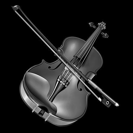 Violin prepared for laser etching