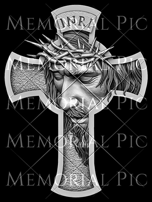 Jesus Cross for impact etching